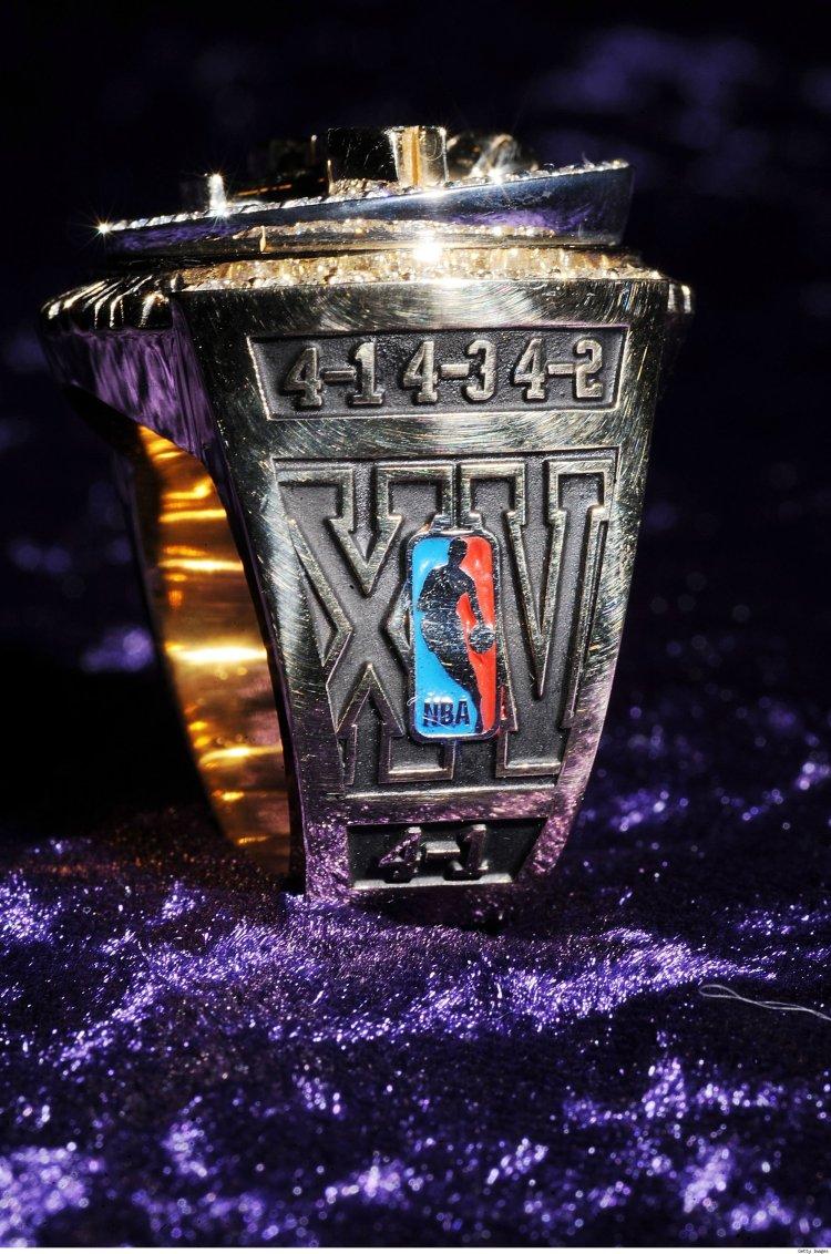 Kobe Lakers Championship Ring OSide